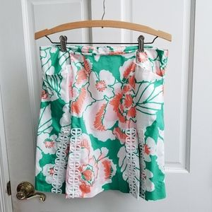 Lilly Pulitzer Tate Floral Embroidered Mini Skirt